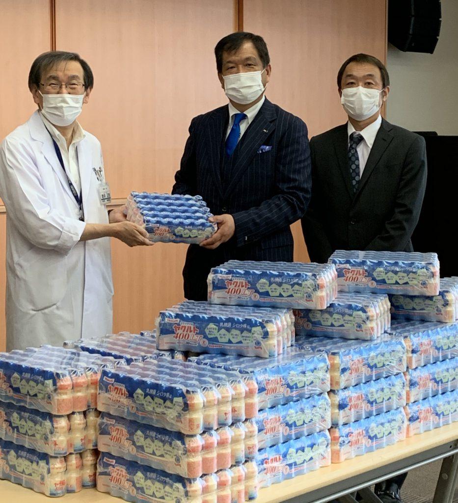 感染症受入れ機関に従事される皆さまへ、感謝の気持ちを込めヤクルト400を寄贈